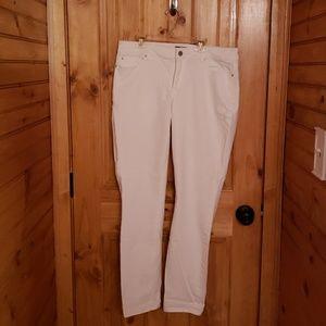 White Ann taylor skinny stretch jeans